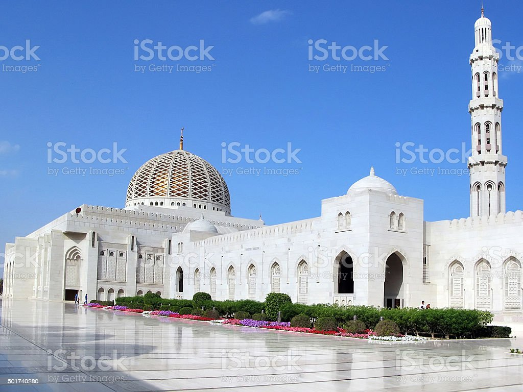 Al Qubrah Mosque in Muscat Oman stock photo