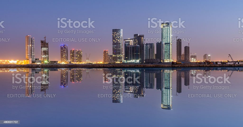 Al Reem island , Abu Dhabi stock photo