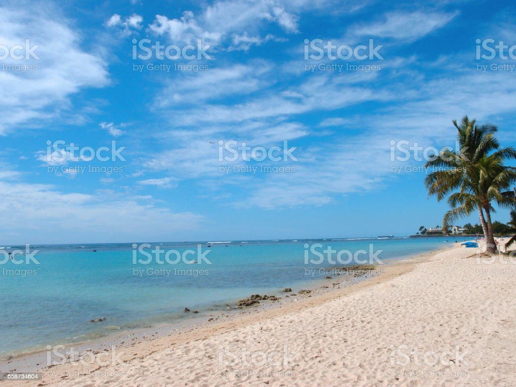 Ala Moana Beach on a beautiful day stock photo