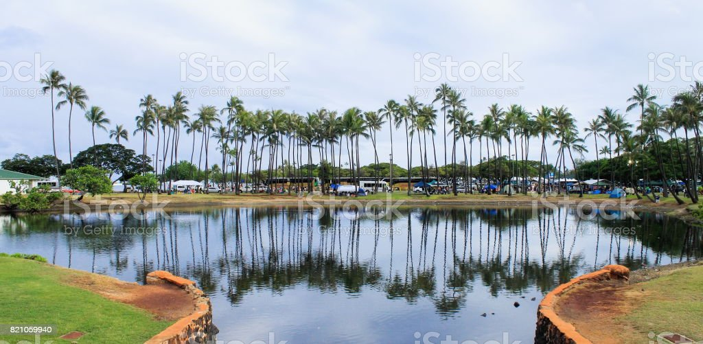 Ala Moana Beach Park - Honolulu, Hawaii stock photo