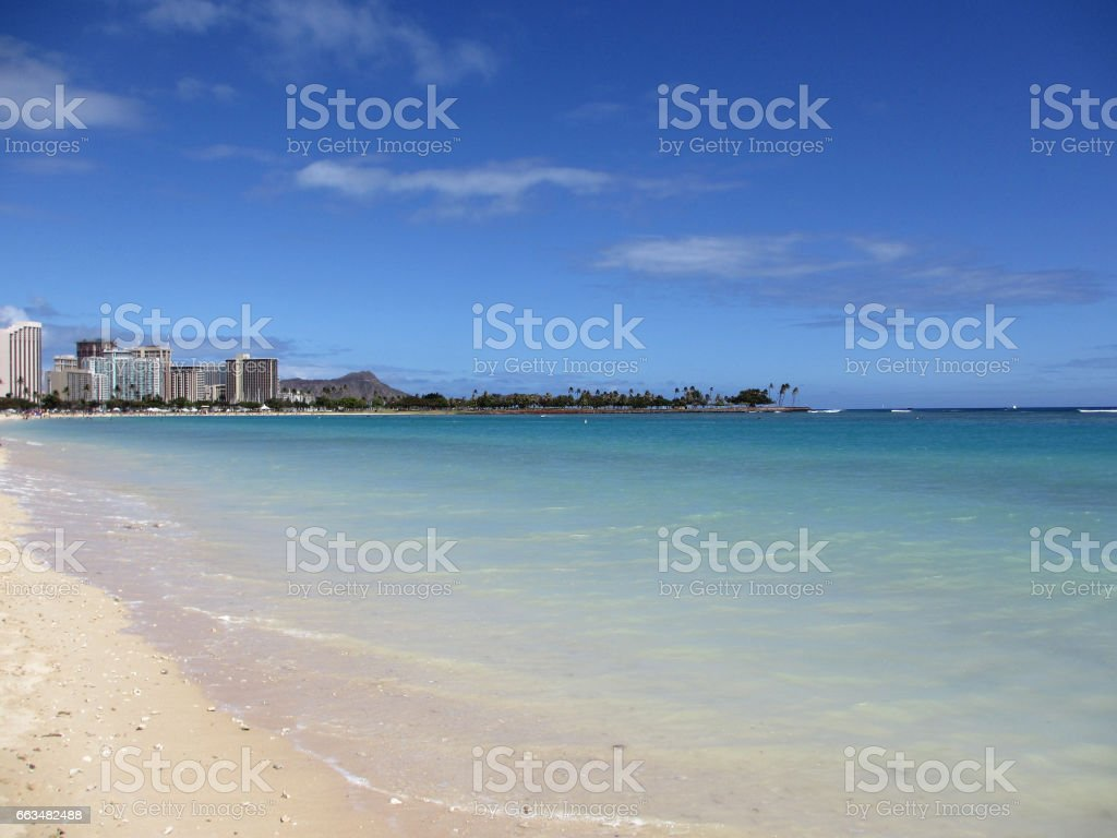 Ala Moana Beach Park on a nice day stock photo