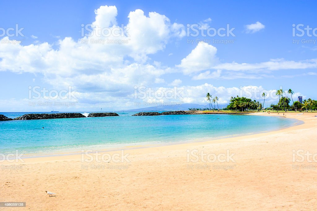Ala Moana Beach Park stock photo
