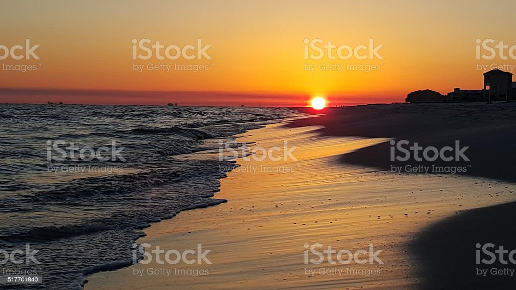 Alabama Beach Sunset stock photo