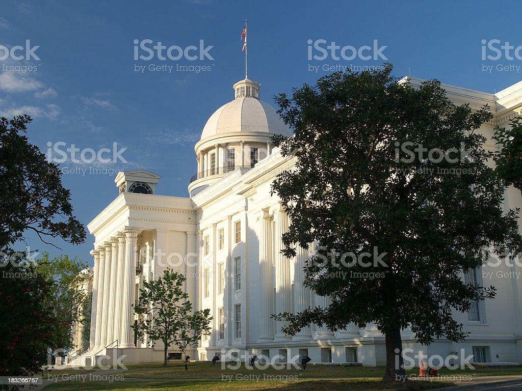 Alabama Capitol west side stock photo