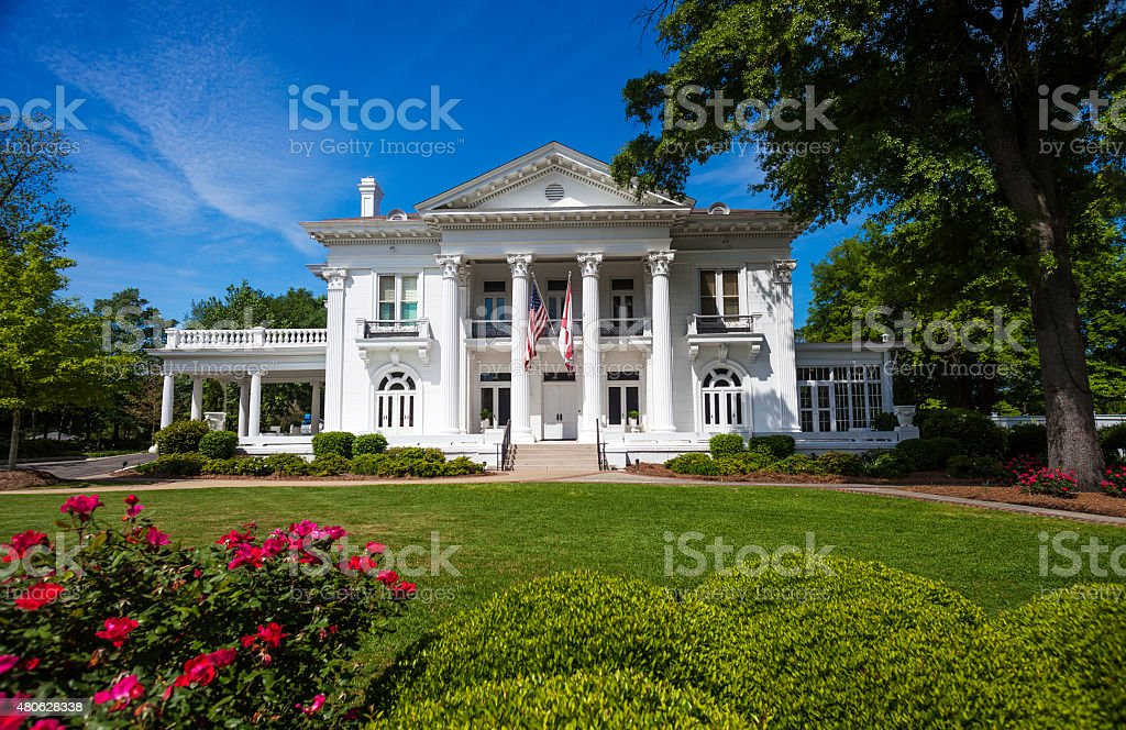 Alabama Governor's Mansion In Montgomery stock photo