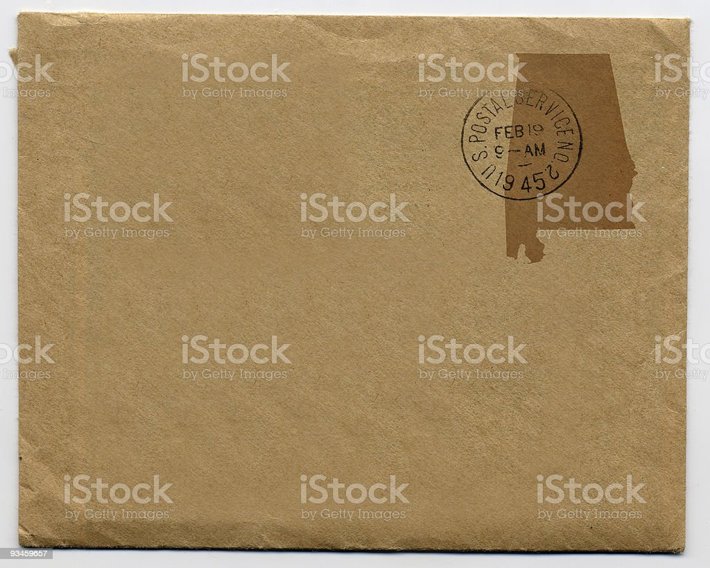 Alabama Mail royalty-free stock photo