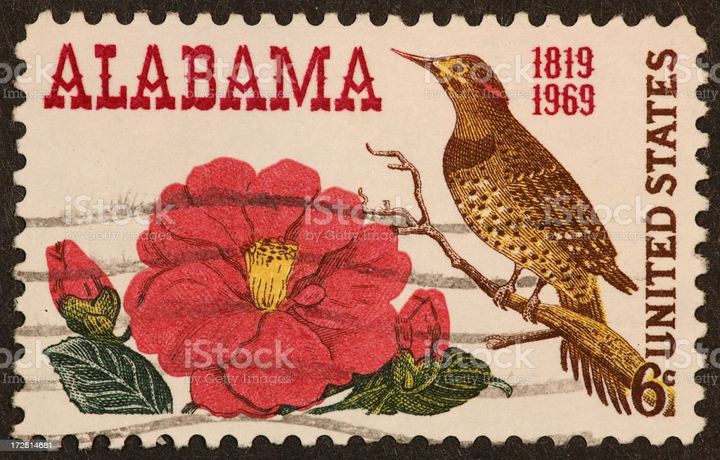 Alabama stamp royalty-free stock photo