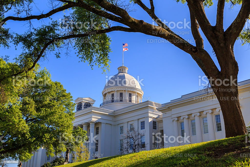Alabama State Capitol Front Right Angle stock photo