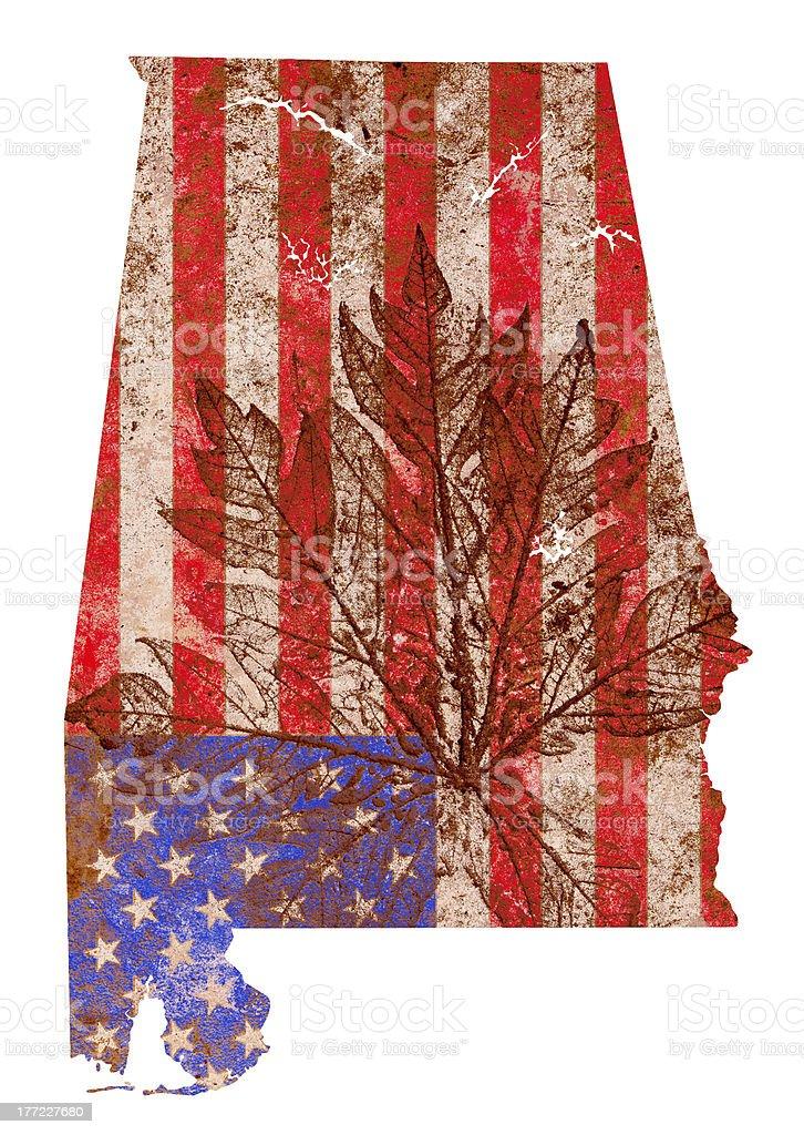 Alabama State Map Flag Pattern royalty-free stock photo