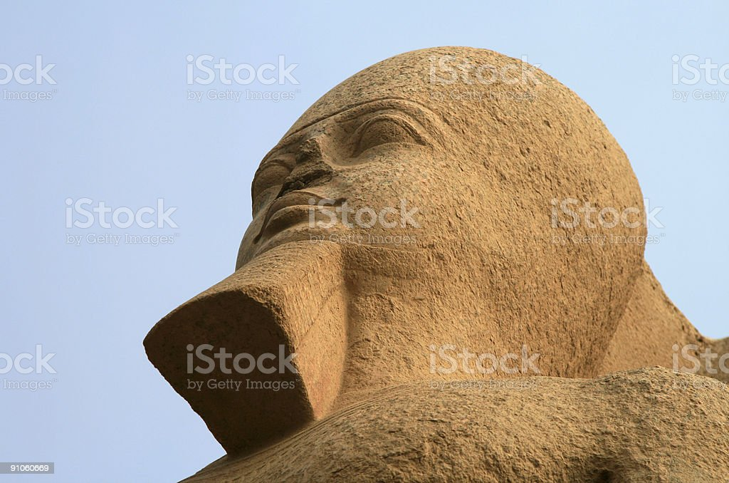 Alabaster Sphinx of Memphis, Egypt stock photo