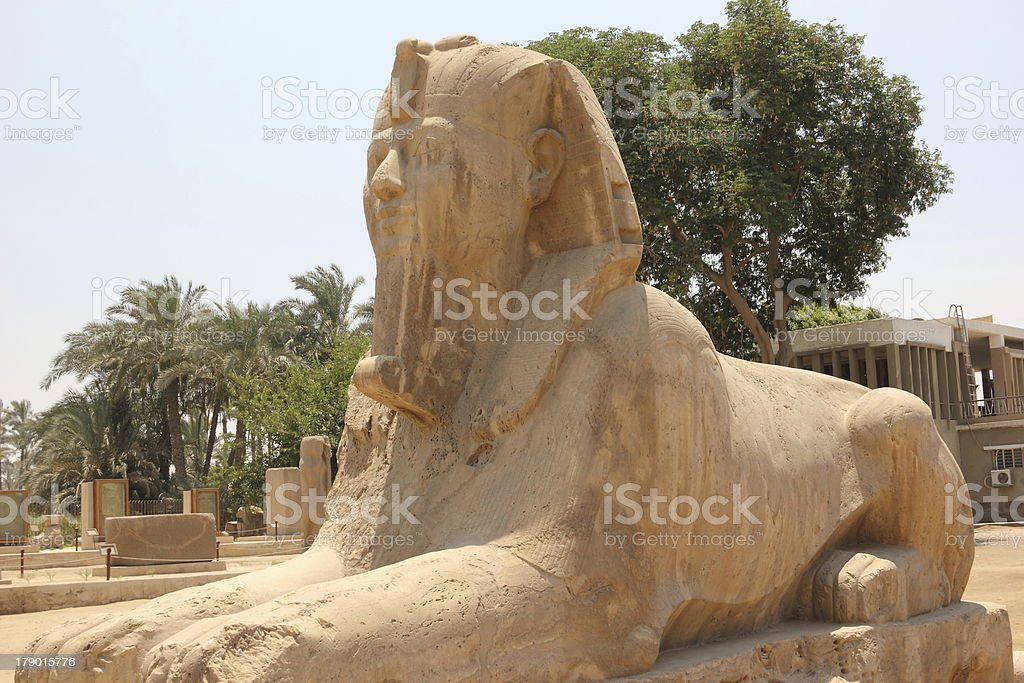 Alabaster Sphinx of Memphis. royalty-free stock photo
