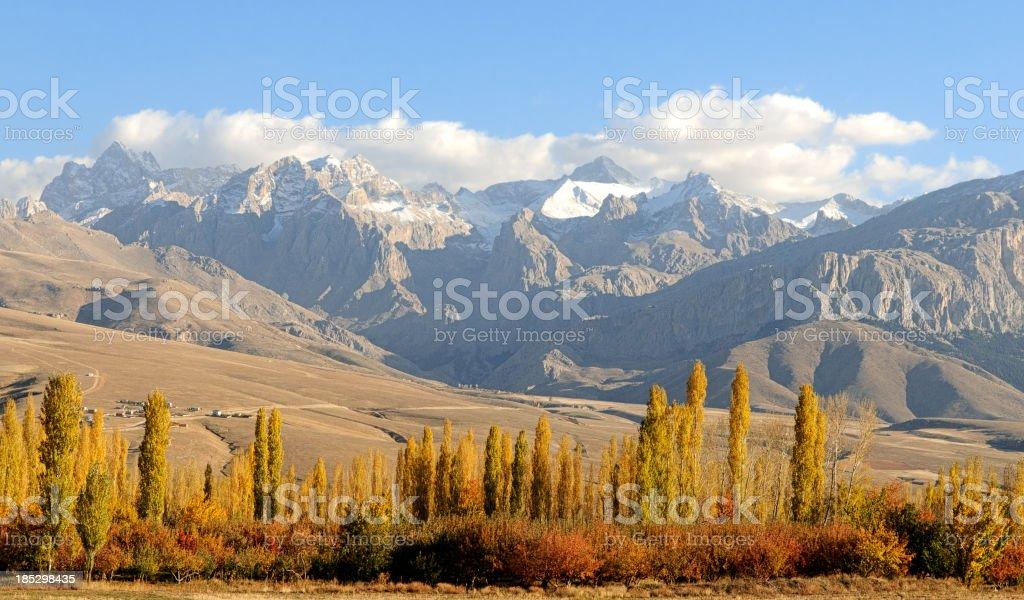 Aladaglar and Demirkazik Summit On Taurus Mountains at Turkey stock photo
