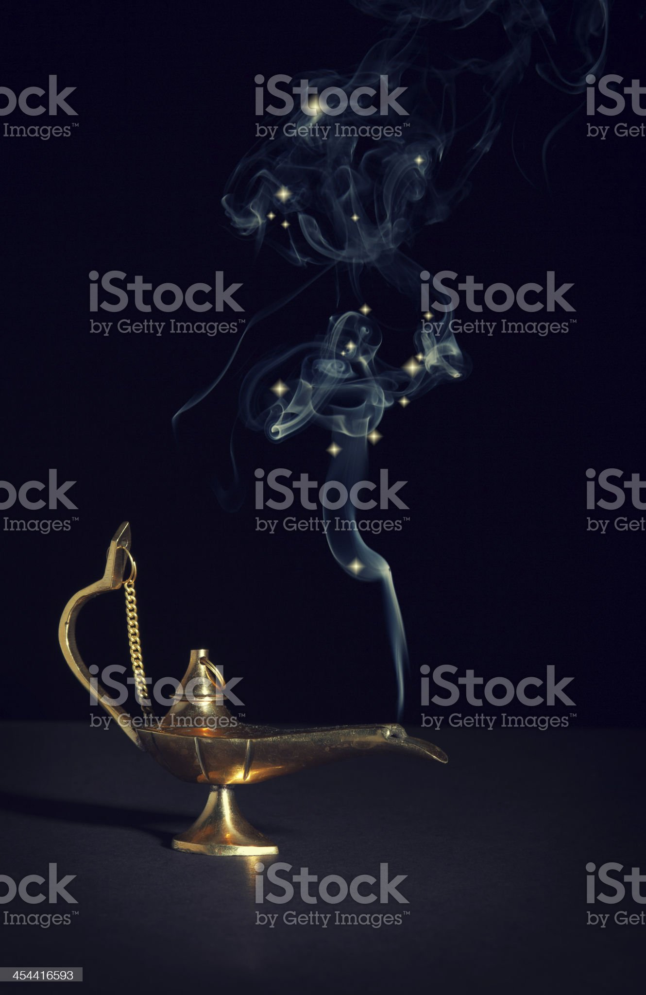 aladdin magic lamp royalty-free stock photo
