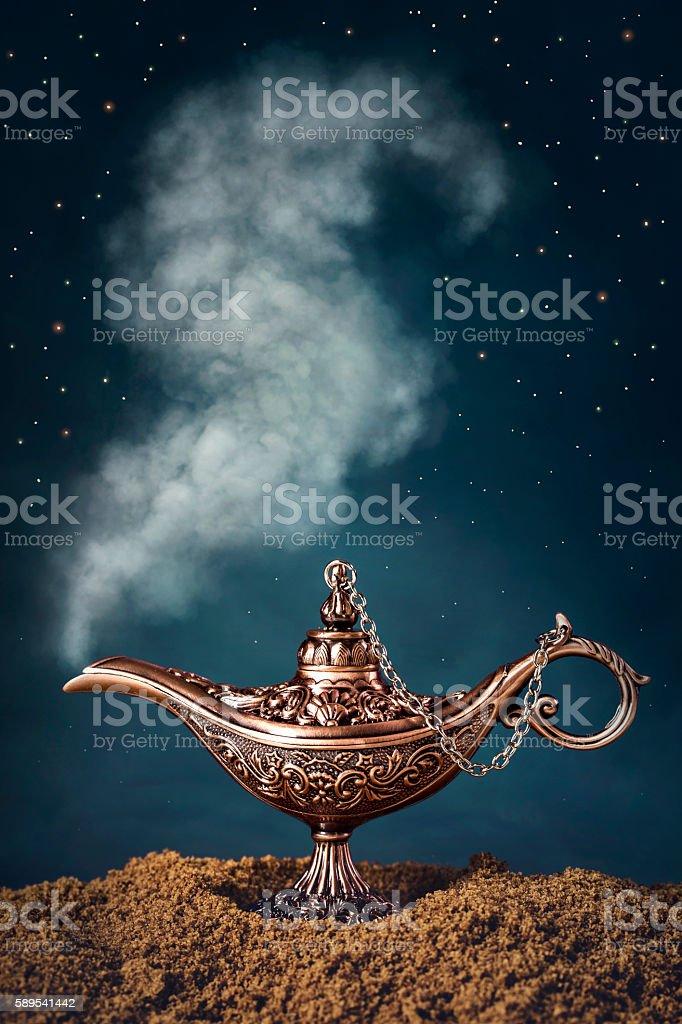 Aladdin magic lamp stock photo