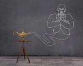 Aladdin's Magic Lamp and Businessman Genie