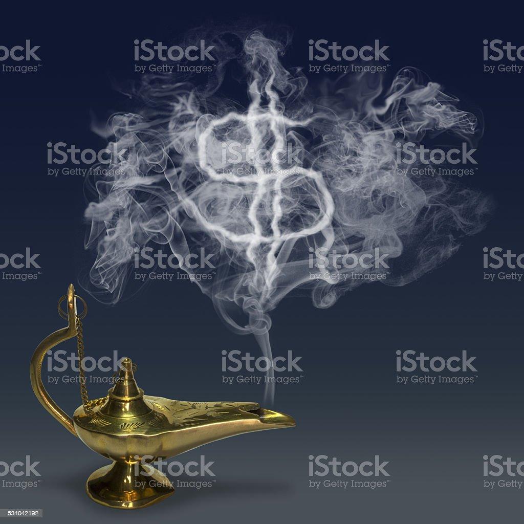 Aladdin's Magic Lamp stock photo