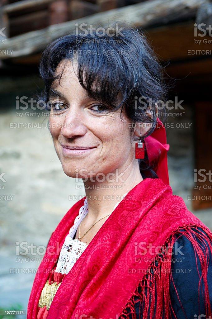 Alagna Traditional Female Costume stock photo