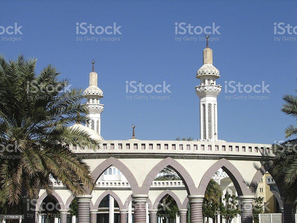 Al-Ain Mosque, United Arab Emirates royalty-free stock photo