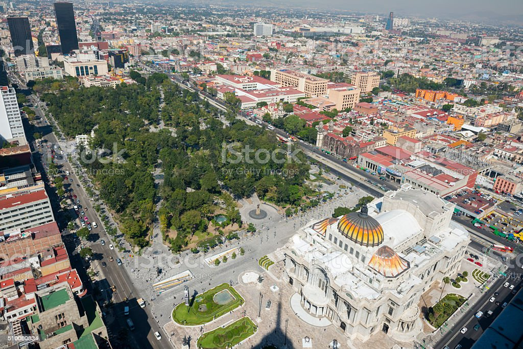 Alameda Central in Mexico City, Mexico stock photo