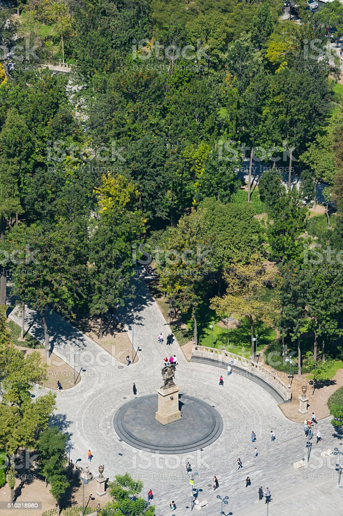Alameda Central park in Mexico City, Mexico stock photo