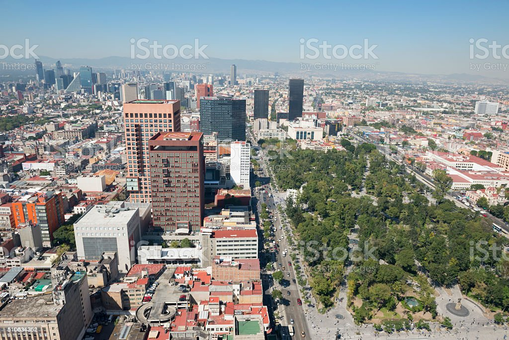 Alameda Central park in Mexico City stock photo