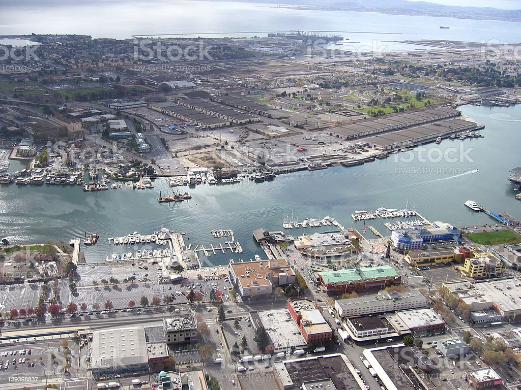 alameda from blimp royalty-free stock photo