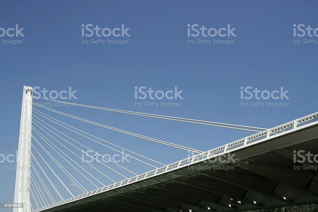 Alamillo Bridge in Seville, Spain stock photo