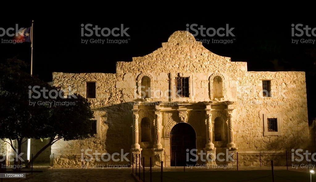 Alamo At Night royalty-free stock photo