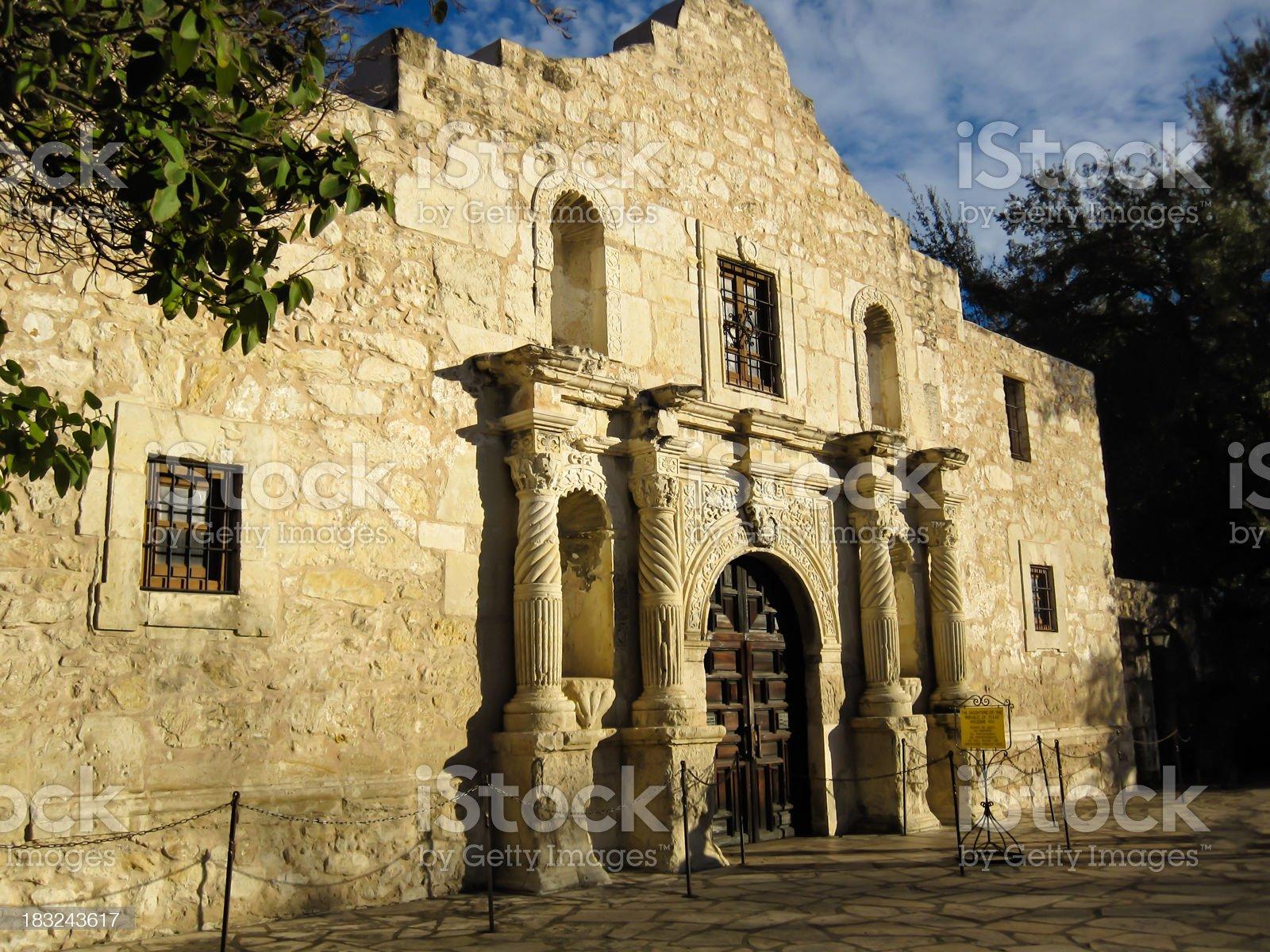 Alamo Mission historic building royalty-free stock photo