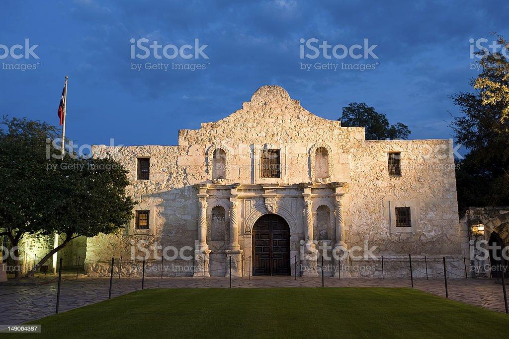 Alamo mission in San Antonio stock photo