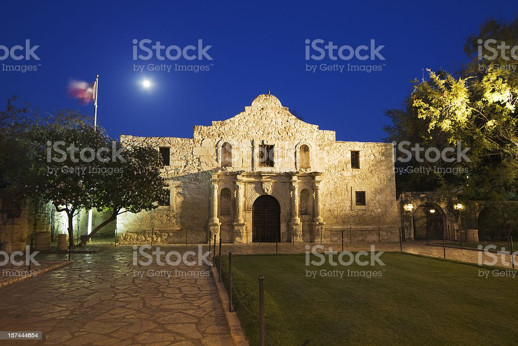 Alamo Mission, San Antonio, a Famous Historic Building in Texas royalty-free stock photo