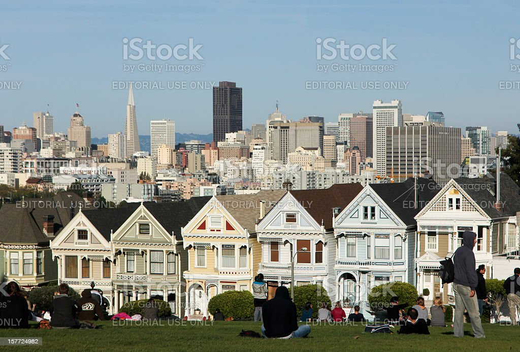 Alamo Square in San Francisco, California stock photo