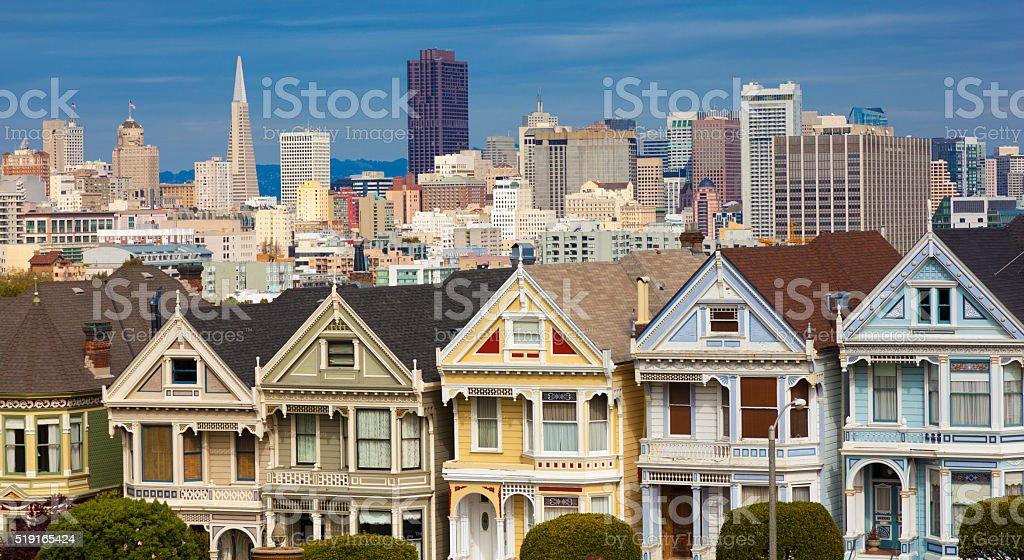 Alamo Square San Francisco, California stock photo