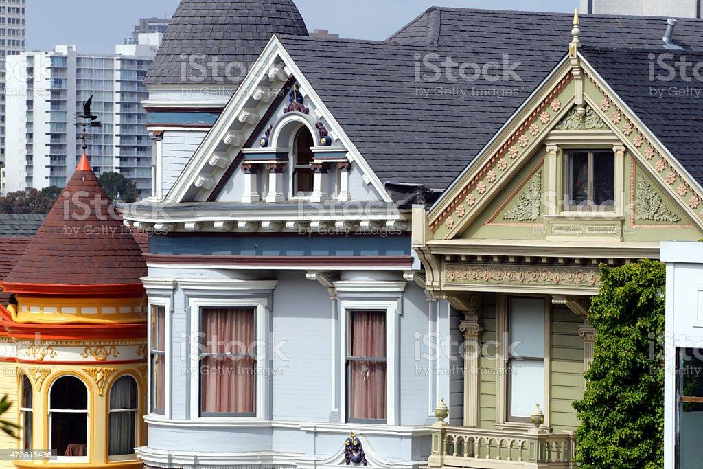 Alamo Square, San Francisco stock photo