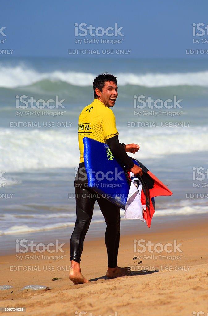 Alan Munoz, Sintra Pro 2016. APB World Bodyboarding Tour. stock photo