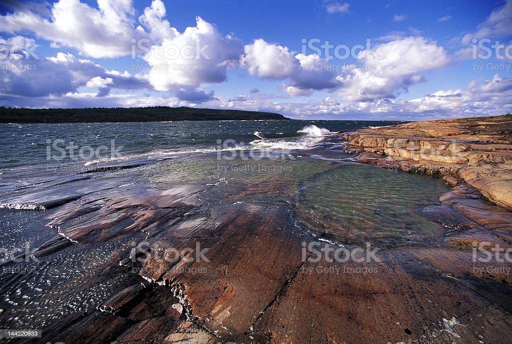 Aland coastline royalty-free stock photo