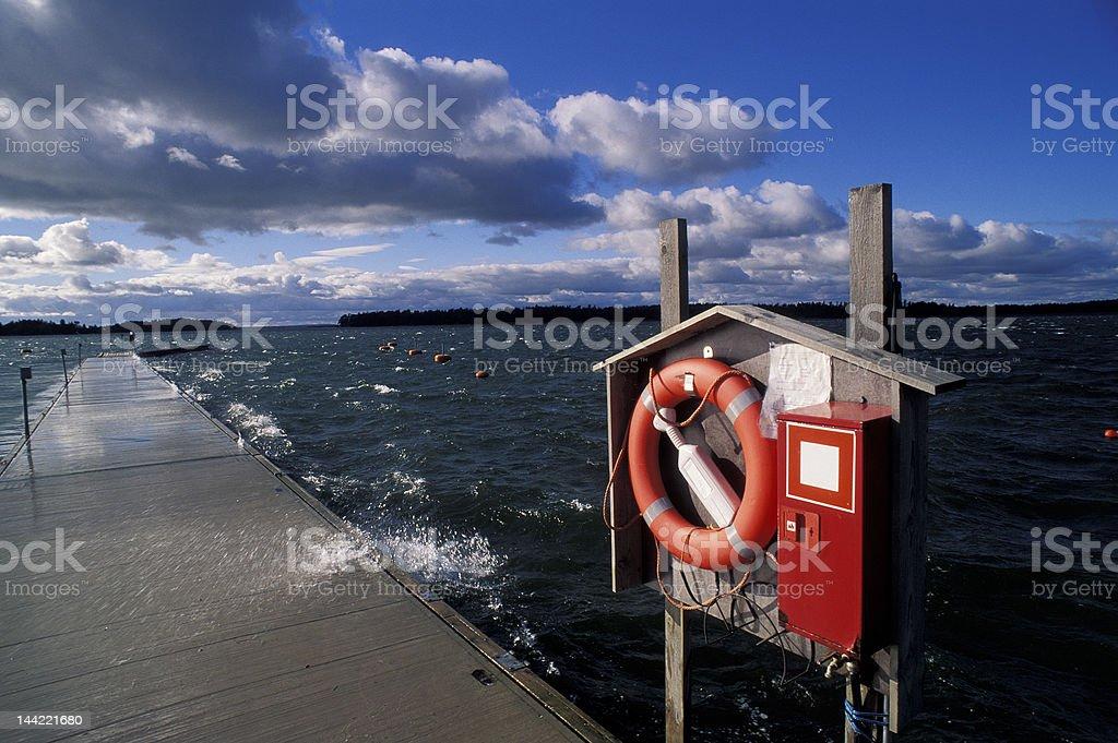 Aland pier royalty-free stock photo