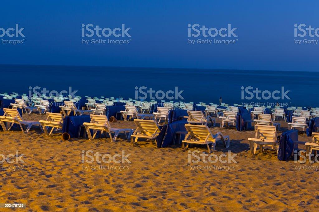 Alanya - Cleopatra Beach. Alanya is one of most popular seaside resorts in Turkey stock photo