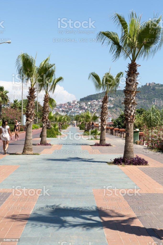 Alanya - Cleopatra beach. stock photo