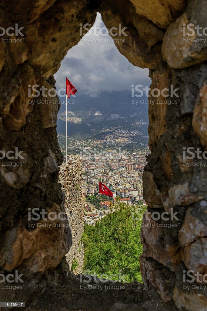 Alanya from Castle royalty-free stock photo