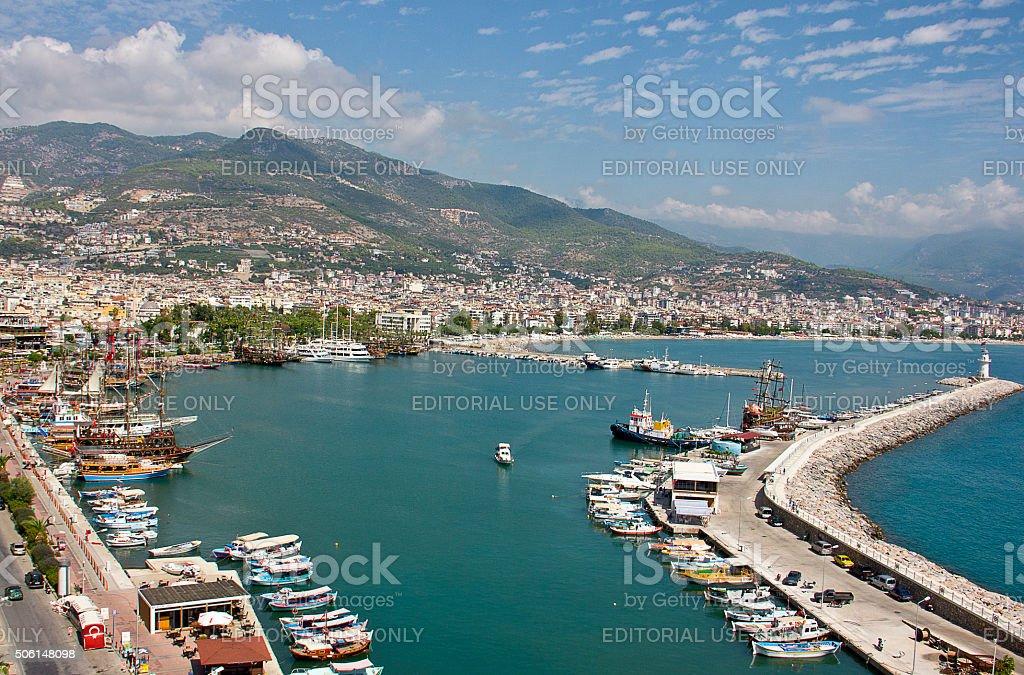 Alanya shipyard (Alanya,Turkey) stock photo