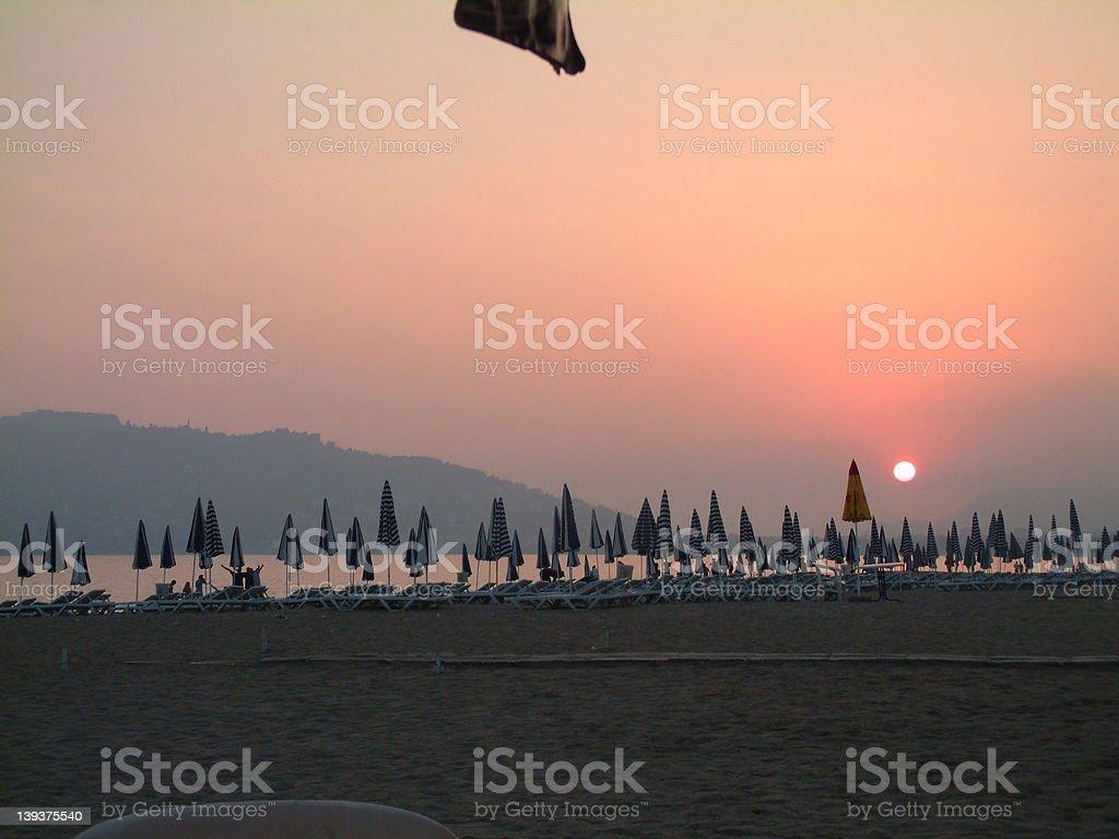 Alanya sunset royalty-free stock photo