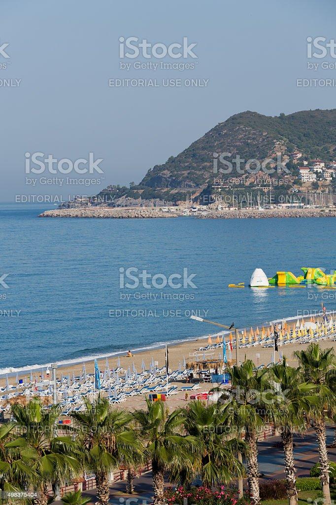 Alanya - the beach of Cleopatra stock photo
