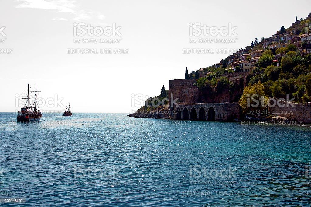 Alanya view stock photo