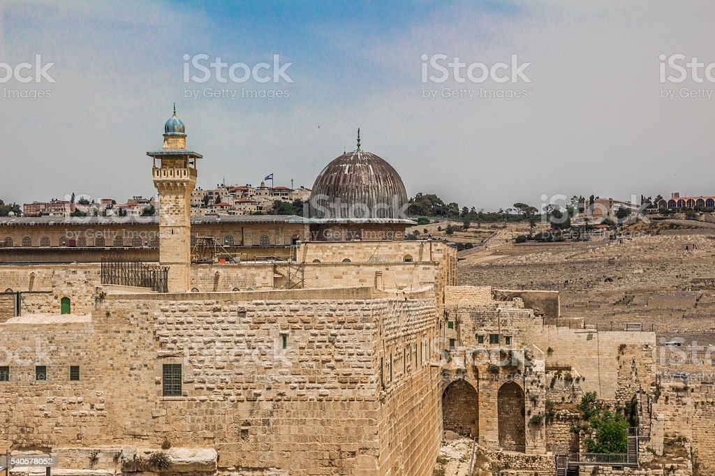 Al-Aqsa mosque  in the old city of Jerusalem Israel stock photo