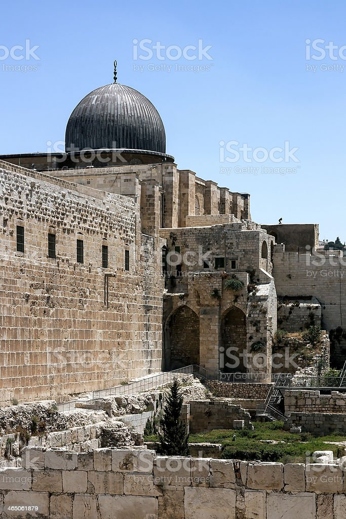 Al-Aqsa Mosque  - Jerusalem royalty-free stock photo