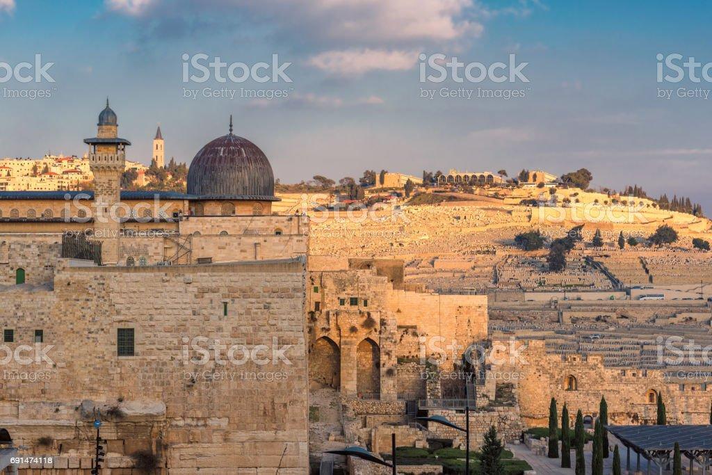 Al-Aqsa Mosque - third holiest place in Islam, Jerusalem, Israel stock photo