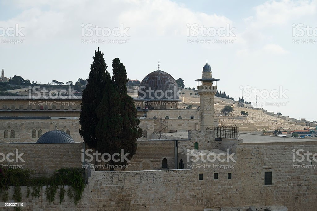 Al-Aqsa Mosque Western Side stock photo