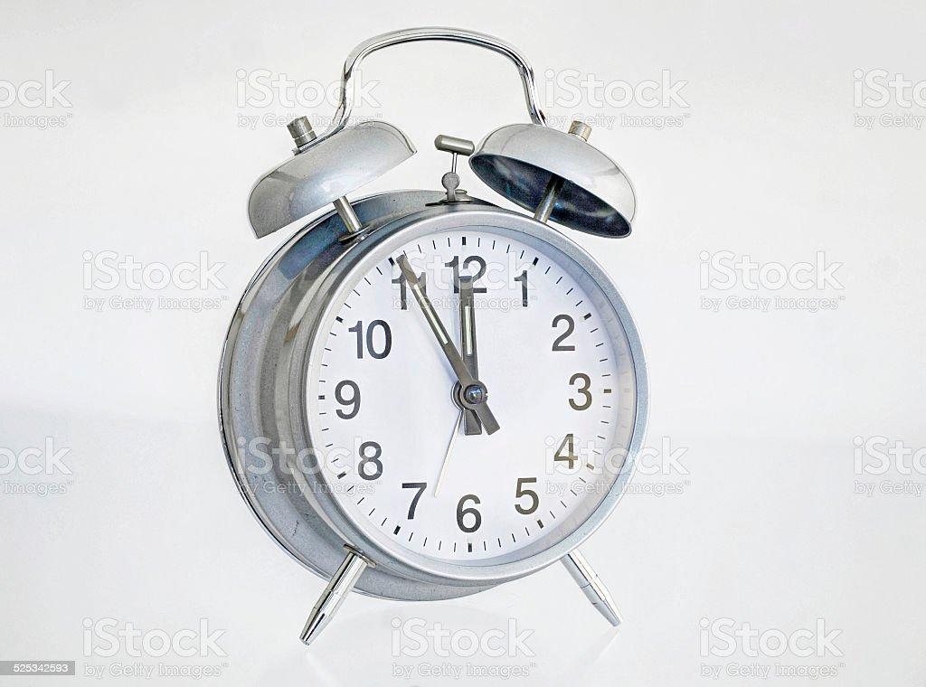Alarm bell silver stock photo