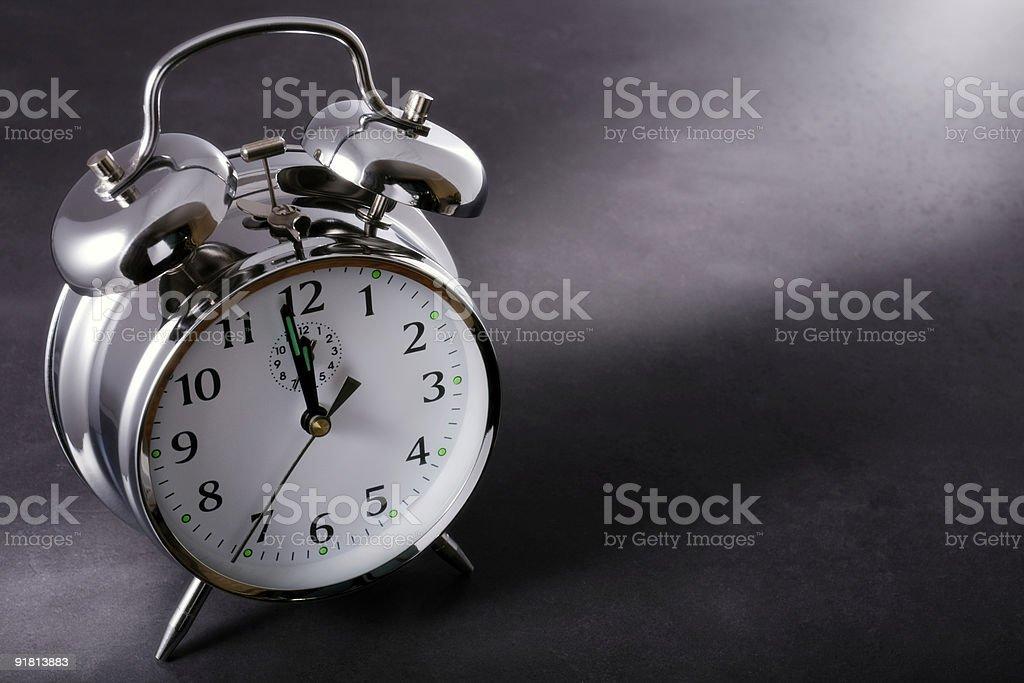 Будильник в полночь Стоковые фото Стоковая фотография